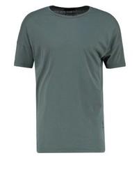 olivgrünes T-Shirt mit einem Rundhalsausschnitt von Religion