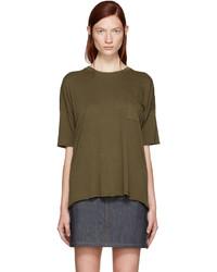 olivgrünes T-shirt von Rag & Bone