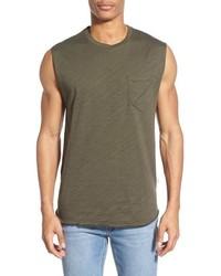 olivgrünes Trägershirt