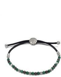 olivgrünes verziert mit Perlen Armband