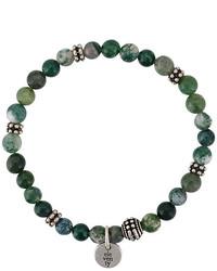 olivgrünes Perlen Armband von Eleventy