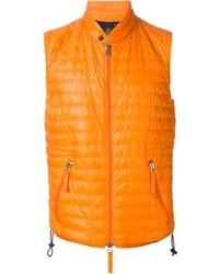 orange ärmellose Jacke