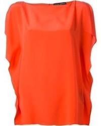 orange ärmelloses Oberteil aus Seide von Ralph Lauren