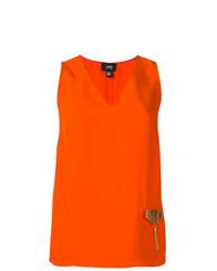 orange ärmelloses Oberteil von Cavalli Class
