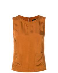 orange ärmelloses Oberteil von Roberto Collina