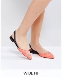 orange Ballerinas von Asos