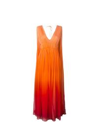 orange Ballkleid von Alberta Ferretti