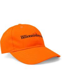 orange Baseballkappe von Billionaire Boys Club