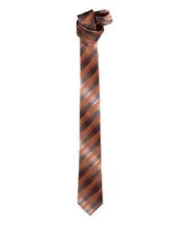 orange bedruckte Krawatte von ENGBERS