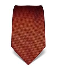 orange bedruckte Krawatte von Vincenzo Boretti