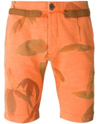 orange bedruckte Shorts