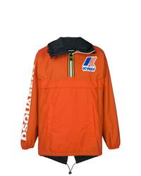 orange bedruckte Windjacke von DSQUARED2
