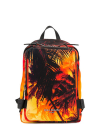 orange bedruckter Rucksack von Balmain
