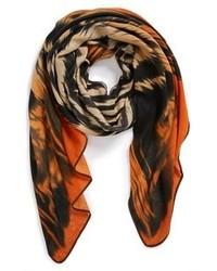 orange bedruckter Schal
