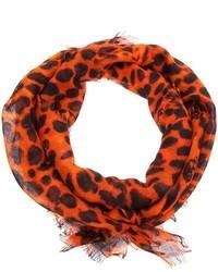 orange bedruckter Schal von Alexander McQueen