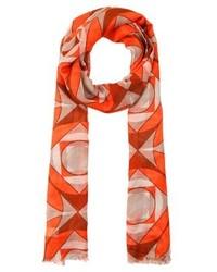 orange bedruckter Schal von Benetton