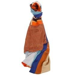 orange bedruckter Schal von Pierre Louis Mascia