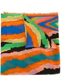 orange bedruckter Seideschal von Missoni