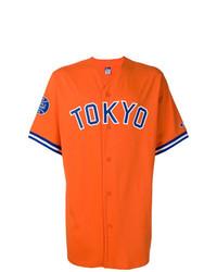 orange bedrucktes Kurzarmhemd von Champion