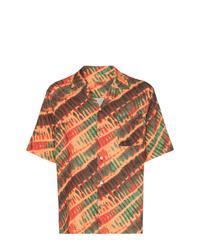 orange bedrucktes Kurzarmhemd von Missoni