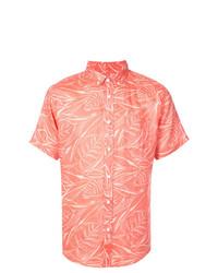 orange bedrucktes Kurzarmhemd von Onia