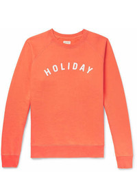 orange bedrucktes Sweatshirt