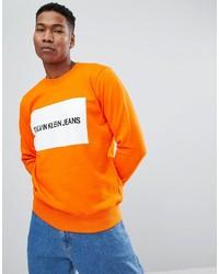 orange bedrucktes Sweatshirt von Calvin Klein Jeans