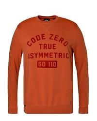 orange bedrucktes Sweatshirt von CODE-ZERO
