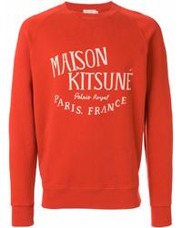 orange bedrucktes Sweatshirt von MAISON KITSUNÉ