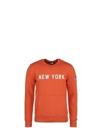 orange bedrucktes Sweatshirt von New Era
