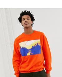 orange bedrucktes Sweatshirt von Reclaimed Vintage
