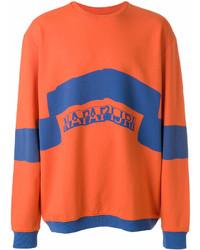 orange bedrucktes Sweatshirt