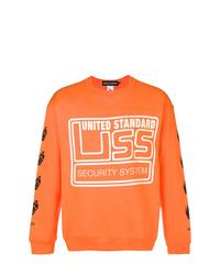 orange bedrucktes Sweatshirt von United Standard