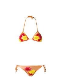 orange besticktes Bikinioberteil von Amir Slama