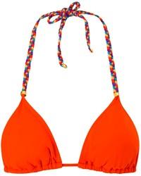 orange Bikinioberteil