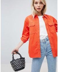 orange Businesshemd von Asos