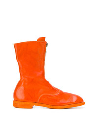 orange Chelsea Boots aus Leder von Guidi