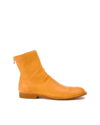 orange Chelsea Boots aus Leder von Officine Creative