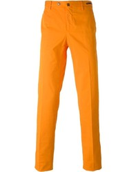orange Chinohose