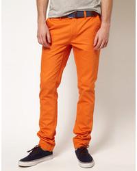 orange Chinohose von Cheap Monday