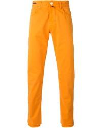 orange Chinohose
