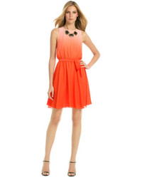 orange Cocktailkleid