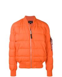 orange Daunenjacke von Alpha Industries