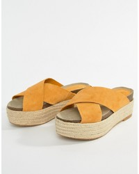 orange Espadrilles von Mango