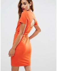Orange Etuikleid von Asos