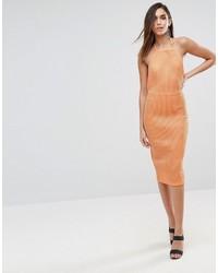 orange figurbetontes Kleid von Asos