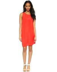 orange gerade geschnittenes Kleid