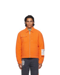 orange Harrington-Jacke