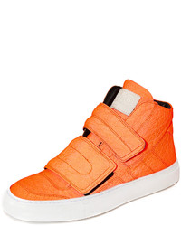 orange hohe Sneakers