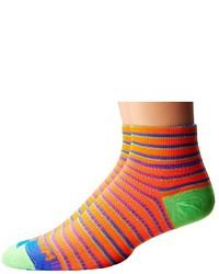 orange horizontal gestreifte Socken